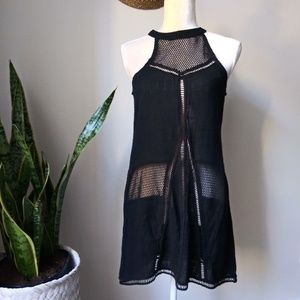 NWT Solitaire swim Crochet Knit Halter Cover up